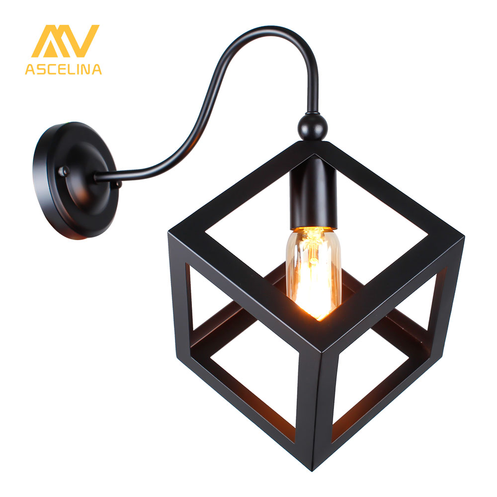 Ascelina wall lamp Loft American vintage indoor lighting bedside lamps industrial Sconce Edis Wall lights for home 110V/220V E27 m american vintage wall lamp indoor lighting bedside lamps wall lights for home stair lamp
