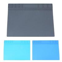 405x3053mm Big Heat Resistant Silicone Pad Desk Mat Maintenance Platform Heat Insulation Soldering Repair Station Screw
