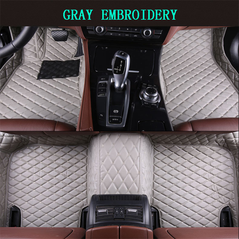 Floor Mats For BMW F10 F18 528i 535i 520i 2010 2019 Foot Carpets pad mat Step Embroidery Leather Car Interior heavy duty carpet
