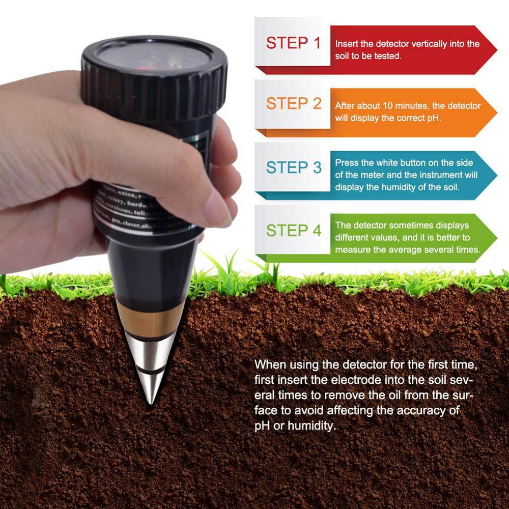 Yieryi nowy ręczny miernik wilgotności wilgotności tester ph dla ogród gleby Metal sonda VT 05 10 80% higrometr w Mierniki pH od Narzędzia na title=