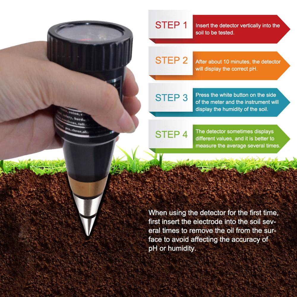 yieryi New handheld moisture humidity meter ph tester for Garden soil Metal probe VT 05 10 80% Hygrometer PH Meters     - title=