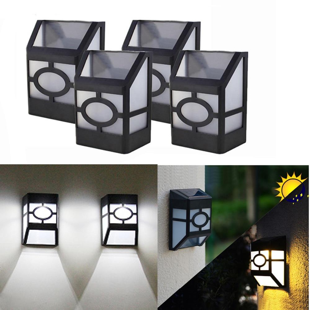 4pcs/lot 2LEDs Solar Light Waterproof Outdoor Solar Garden Lamp Street Yard Deck Pathway Power Lighting Lights