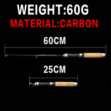 WALK FISH 60cm Mini Fishing Rod Ice Fishing Reel Carbon Pole Shrimp Ice Fish Rods for Winter Peche Carp vara