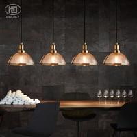 Vintage Retro Glass Shade LED Pendent Light Industrial Wind Restaurant Cafe Living Room Bedroom Decorative Droplight Lighting