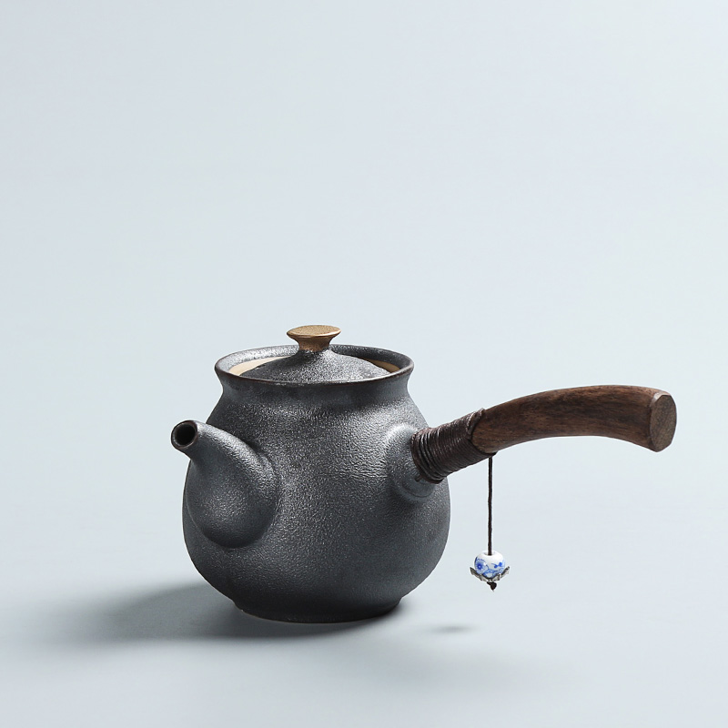 PINNY New Arrival Ceramics Japanese Style Tea Pot Vintage Kung Fu Tea Set Ebony Փայտե բռնակ Teapots Tea Kettle Ecco-Friendly