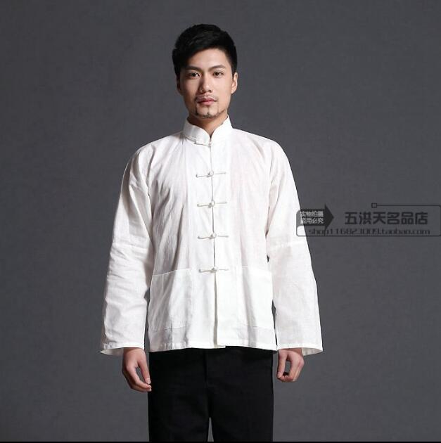 2017 Cotton and Flax Traditional chinese clothing men Tai chi clothing