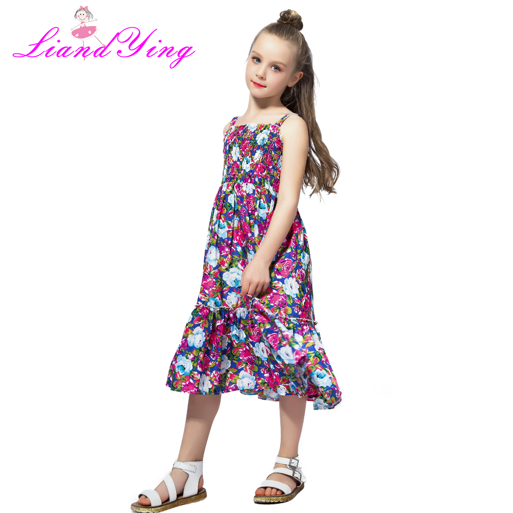f838514b53ad0 2018 Brand Bohemia Children Dress Girls Summer Floral Party Dresses ...