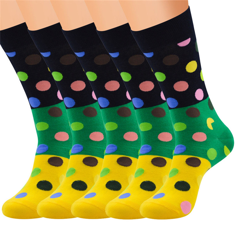 Men Accessories 5 Pairs Men`s Colorful Funny Novelty Crazy Combed Cotton Casual Socks Sport Foot Sock 30LY18 (13)