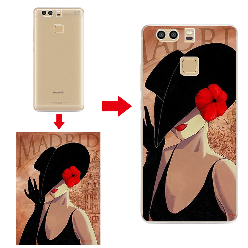 Silicone Soft Cover Customized Printed Phone Case For Huawei Ascend P9 Case Coque DIY Personalized Print Picture Back Shell Bags