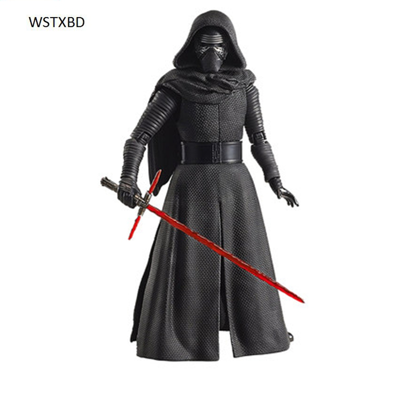 WSTXBD Original BANDAI Star Wars SW Figure Rise 1/12 Scale Kylo Ren PVC Figure Model Kids Dolls Toys Figurals saintgi saintgi star wars the force awakens kylo ren action figure pvc 16cm model toys kids gifts collection free shipping