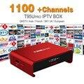 Europa Canales de IPTV Árabe Francés incluido Android 6.0 TV Box S912 T95Upro Soporte Sport Canal Plus Francés Iptv Set Top caja