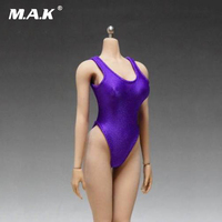 1/6 Scale Purple Swimsuit Female Girl Tights Sexy Underwear Jumpsuit Models For 12'' Women Body Figure Accessories