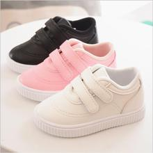 Kids Shoes For Girl Children Leather shoes boys Candy color laces 2019 Spring Autumn white sneakers children single girls