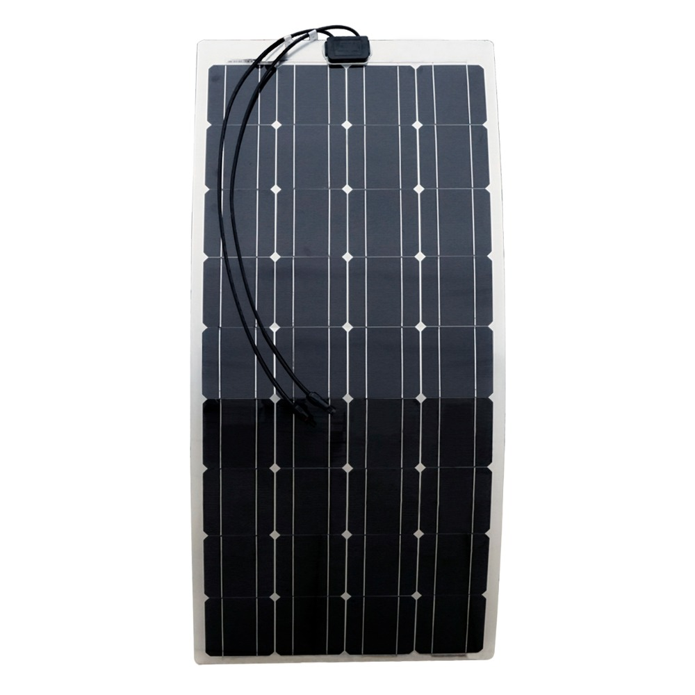 200W 2X100W Mono Flexible Solar Panel Solar Module Energy Roof Camper RV Yacht Solar Generators 200w 2x100w mono flexible solar panel solar module energy roof camper rv yacht solar generators