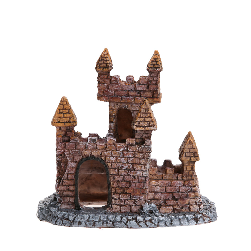 Fish tank decorations zombie - Hot Mini Resin Cartoon Castle Aquariums Decorations Castle Tower Ornaments Fish Tank Escape Hole Aquarium Accessories