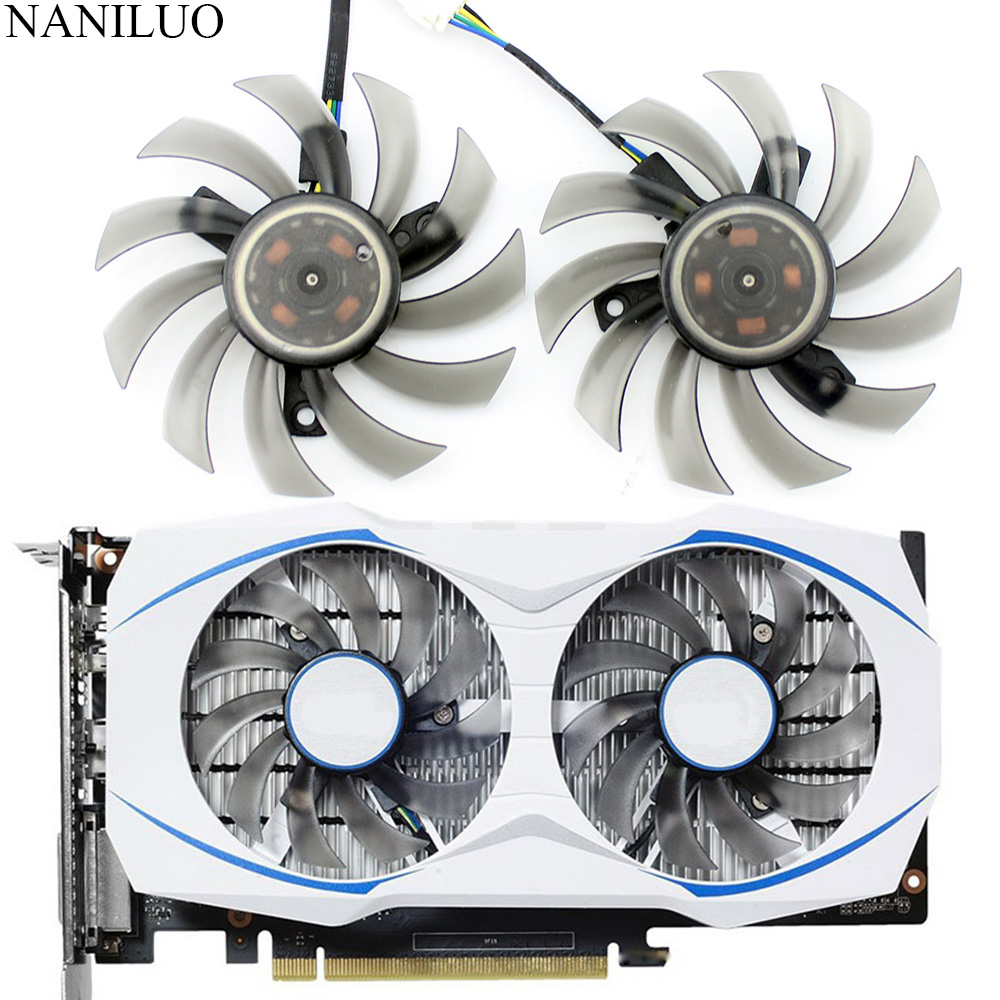 FD7010H12S 75MM Cooler Fan For ASUS MSI <font><b>GTX</b></font> 1050 <font><b>TI</b></font> Radeon Sapphire 6930 7850 <font><b>GTX</b></font> <font><b>550</b></font> 750 770 <font><b>Ti</b></font> HD 7870 Video Card Cooling image