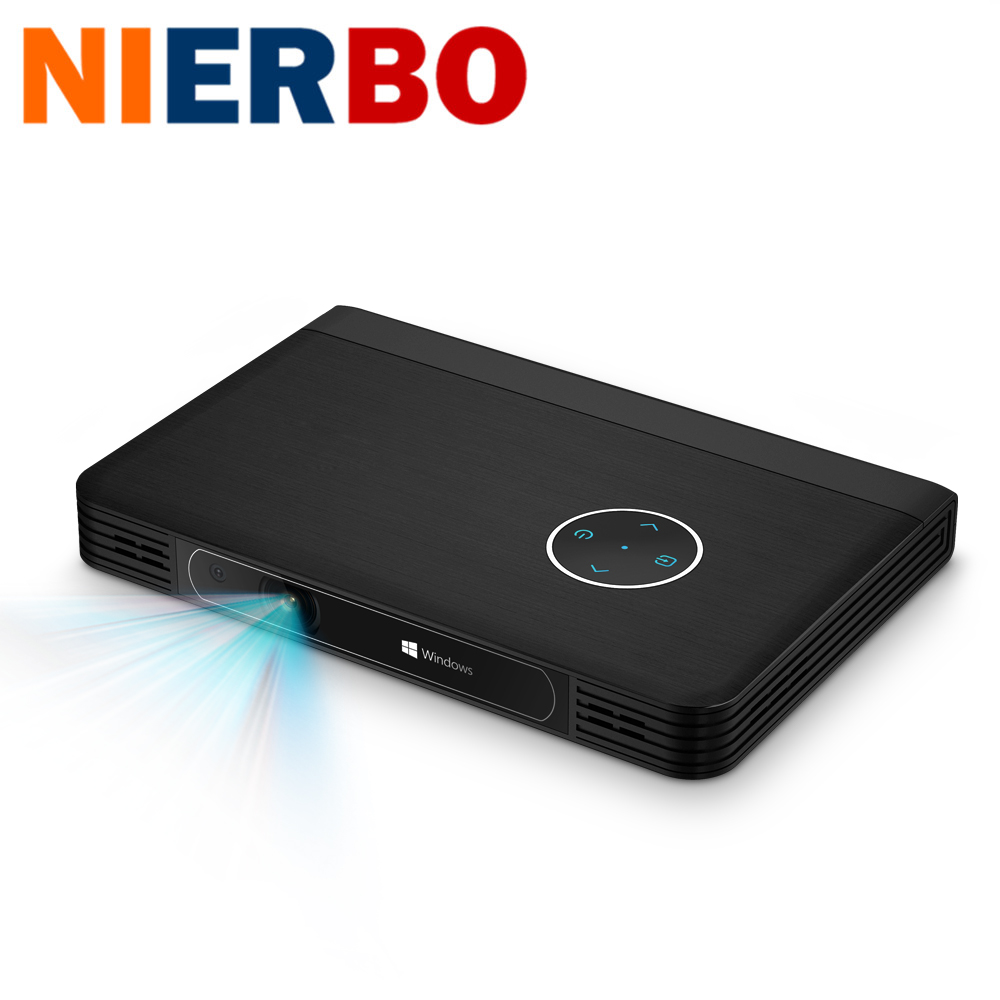 4K LED Projector Video Windows 10 2G 32G Portable Mini Projektors Full HD 1080P HDMI Beamer