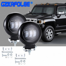 Gzkafolee 1 pcs carro bar levou barra de luz de trabalho led 12 v 24 v 4 30 w 6000 k x 4 suv offroad bar ATV iate
