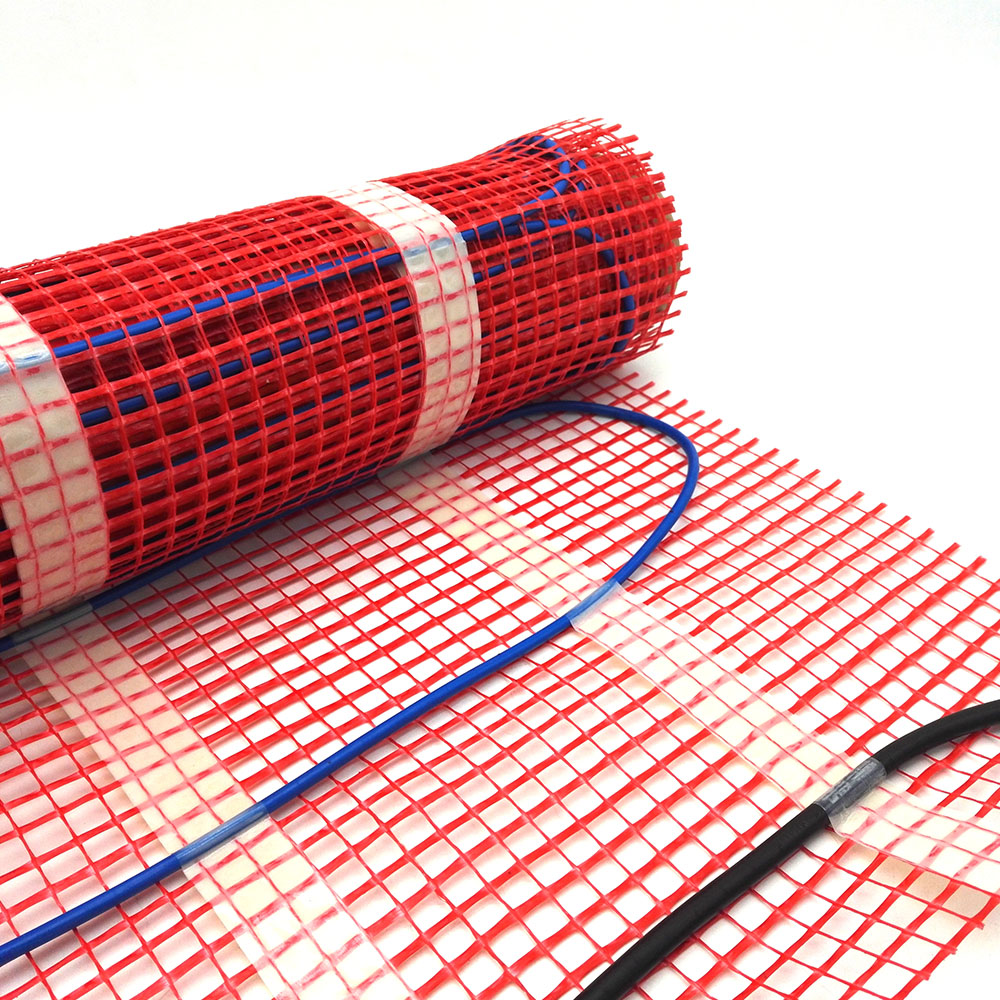 0.5~5m2 150W/sqm Warming Systems Mat for Electric Underfloor Heating System with Wifi Room Thermostat Can Choose
