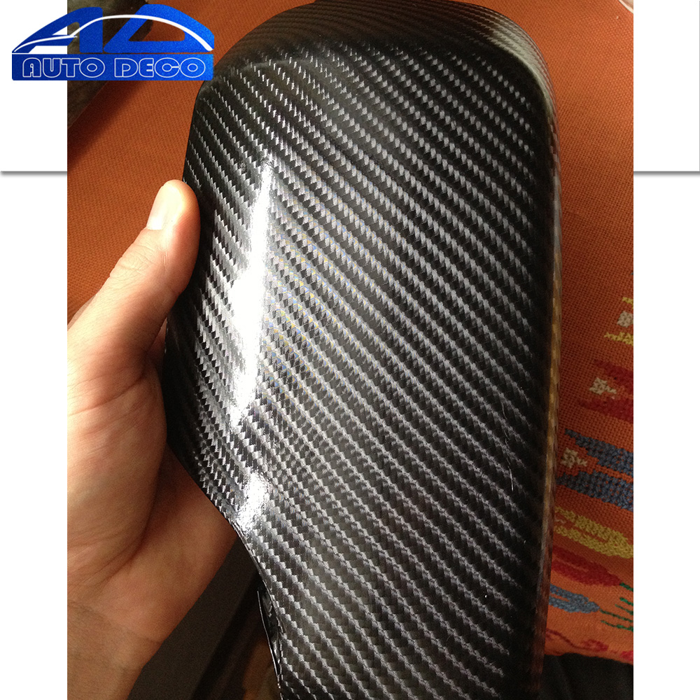 FedEx Free Shipping 4D Black Carbon Fiber Vinyl/ Fashionable for car wrapping  Car Sticker Film 30m