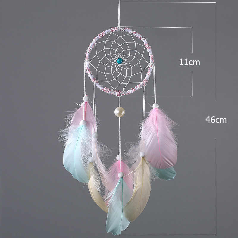 Fheal Feather Crafts Diy Dreamcatcher Kits Handmade Wind Chimes Hanging Pendant Dream Catcher Home Wall Art Hangings Decorations