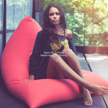 Red outdoor bean bag chair, Living room indoor beanbag sofa seat , external and internal adults furniture chairs