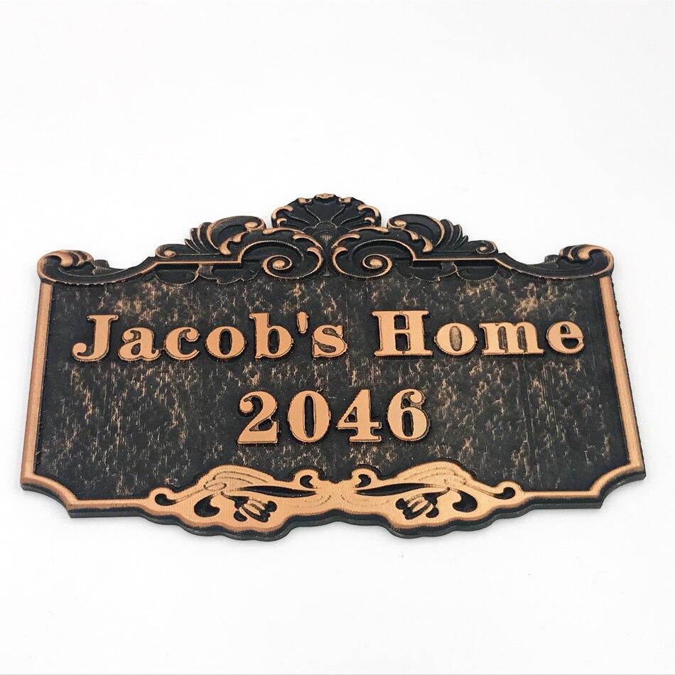 Nome da casa com Número Feito Sob Encomenda Apartamento Villa casa Sinal Da Porta placa porta o Número Da Casa de estilo Europeu, Qualquer número de Cartas