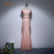 Elegant Mother Of Bride Dresses Off The Shoulder Bow Floral Lace Mermaid Long Party Gown