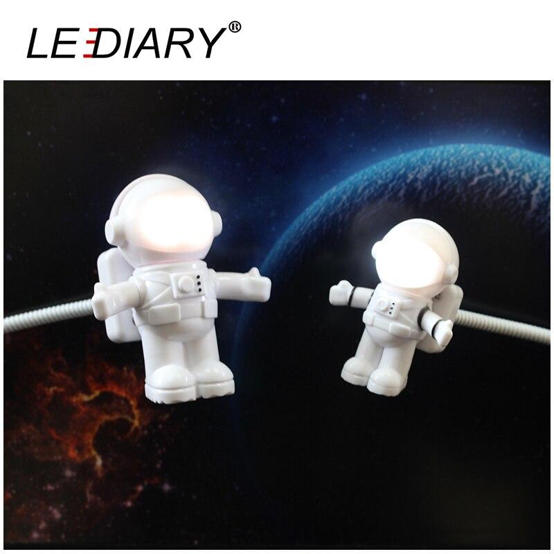 Lediary Funny Astronaut Spaceman Led Night Light Usb Desk