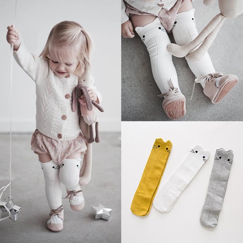 Baby Happy Funny Socks Age 0-3y Over Knee Long Hosiery Cartoon Rabbit Children Meias Kids Calcetines Boys Sokken Girls Sock Miea