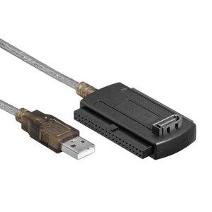 Image 1 - كابل محول محرك الأقراص الصلبة 3in1 USB 2.0 IDE SATA 5.25 S ATA 2.5 بوصة لمحول الكمبيوتر المحمول