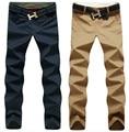 Бесплатная доставка! Мода свободного покроя мужские брюки новинка бизнес-брюки высокое качество хлопковые брюки 9 цветов размер 28 - 44