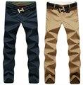 Envío gratis! moda Casual pantalones para hombre nuevo diseño pantalones negocios High calidad algodón pantalones 9 colores tamaño 28 - 44