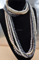 120cm 8mm bread freshwater pearl necklace free shipping
