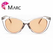 MARC WOMEN sunglasses MEN Brand Plastic Transparent Trend Eyewear Cat Eye Designer Fashion Trendy Sunglasses Gafas Oculos Resin
