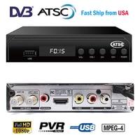 [Genuine]HD Digital DVB ATSC TV Receptor Support MPEG 4 1080P HD PVR TIMESHIFT HDMI USB For USA Canada Mexico ATSC Set top Box