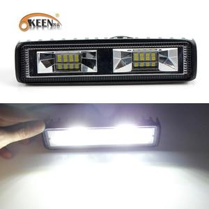 Image 2 - OKEEN Super Helle LED Arbeit Licht 48 W Offroad Auto 4WD Lkw Traktor Boot Anhänger 4x4 SUV ATV 12 V Flut LED Licht Bar Nebel Lampe