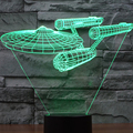 3D Casa decoração da lâmpada Atmosfera brinquedo 2016 Novo Turtles ironman flash LED partido atmosfera Filme Star Trek Empresa Presente