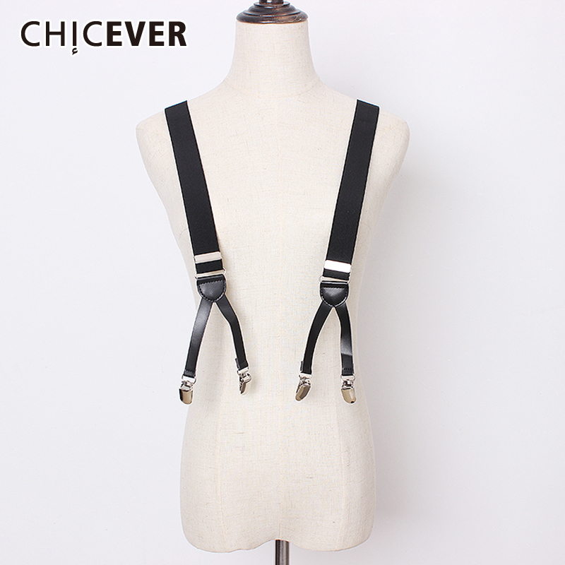 CHICEVER 2020 Summer PU Back Belt For Women High Waist Vintage Clothing Accessories Solid Belts Female Fashion New Tide