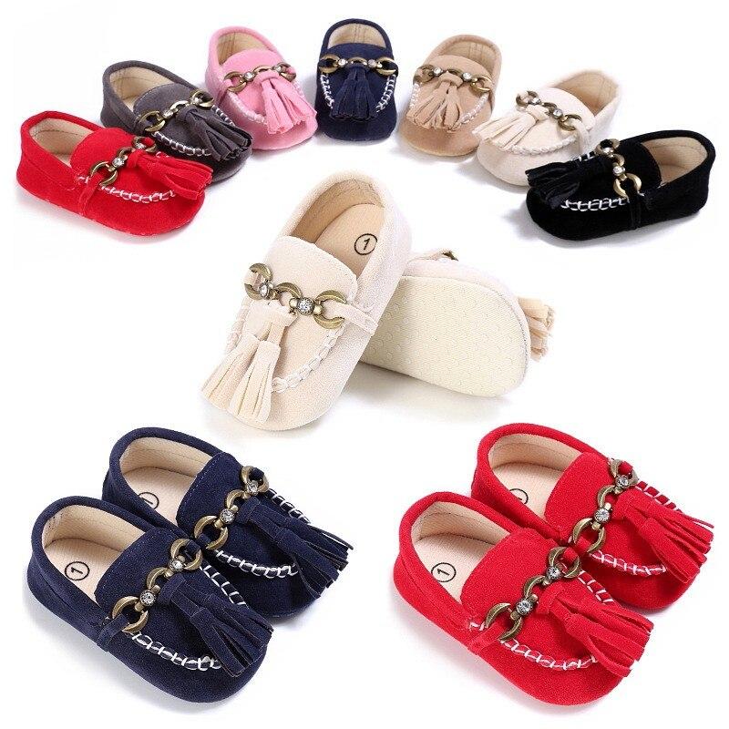 8-cores Escolher Borla Sapatos Casuais Bebê Meninas E Menino Franja Sapatos de Bebê Toddler Sapatos de Sola Macia