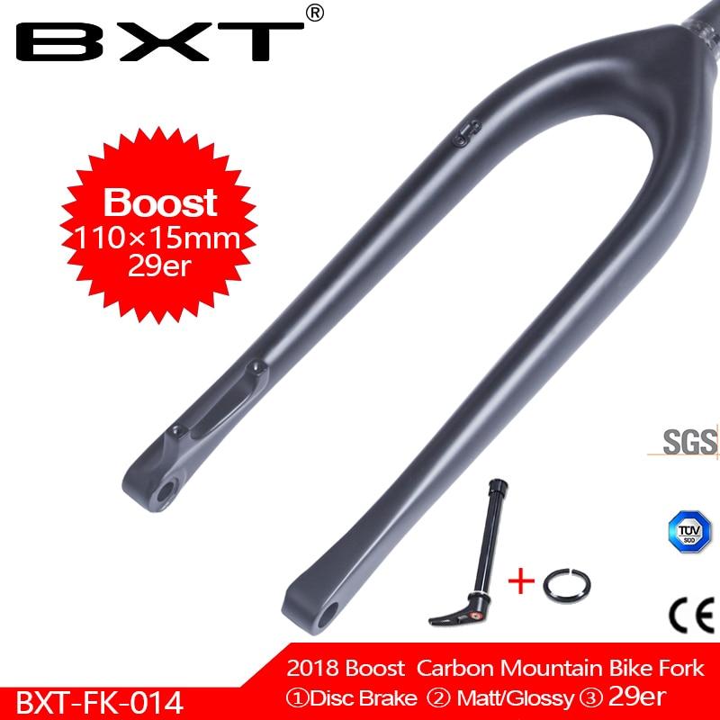 BXT 29er fourche à VTT plein carbone 110*15mm fourche vtt 1-1/8 à 1-1/2 fourche conique en fibre de carbone livraison gratuite