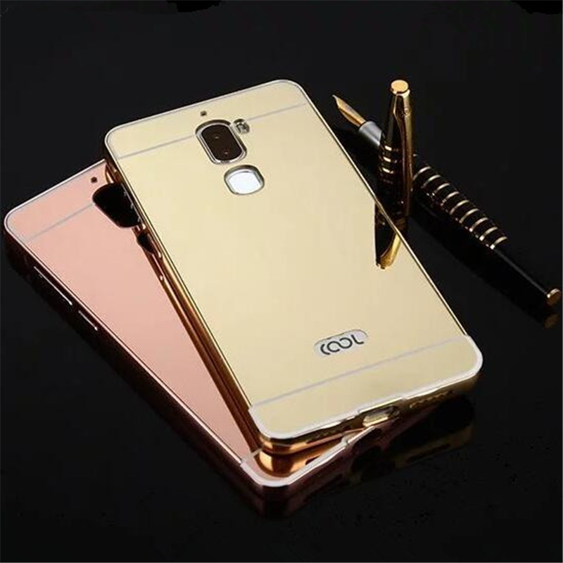online store 4fc99 4ba44 US $2.85 |2017 New Bumper Case For Letv LeEco Cool 1 Case Mirror Back Cover  & Metal Frame Hard Phone Housing Fundas For LeEco Cool1 HC01-in Phone ...