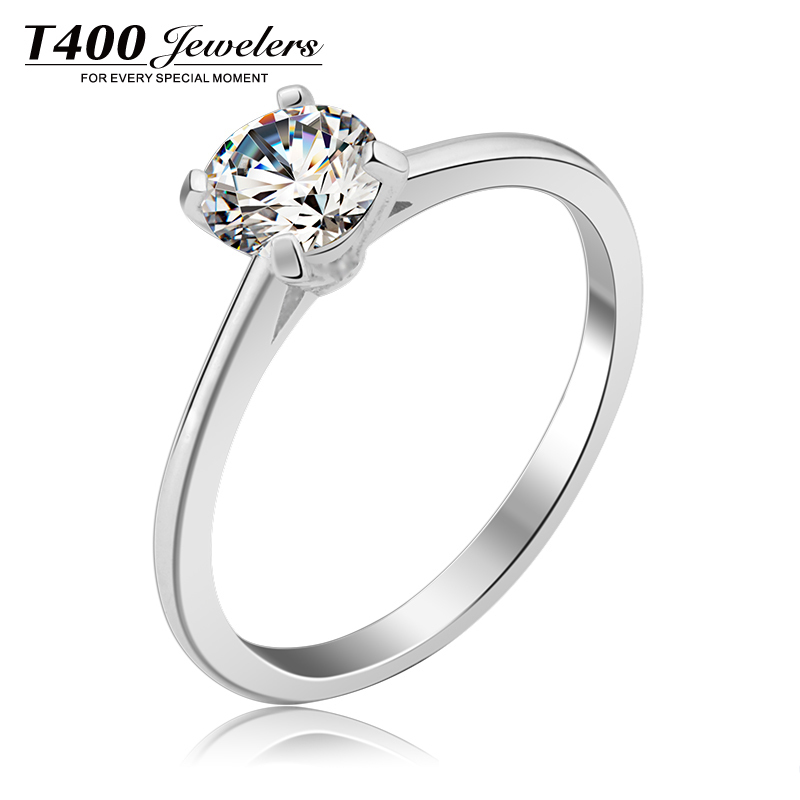 Wedding Rings!T400#4208 Made With Swarovski Zirconia For