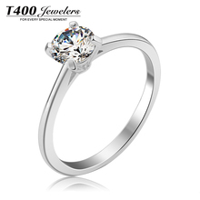 Wedding rings!T400 made with swarovski zirconia,for women,925 sterling silver jewelry,Chic zircon gifts#42082,free shipping