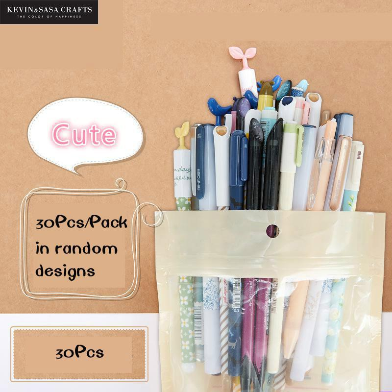 30Pcs/Pack Gel Pen Cute Pen Stationery Kawaii School Supplies Gel Ink Pen School Stationery Office Suppliers Pen Office Tools цена