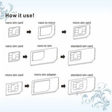 Universal SIM Card Adapter Kit for Mobile Phone Tool