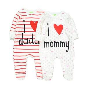 Image 2 - תינוק בני Rompers חמוד קריקטורה 100% כותנה ארוך שרוול תינוק בגדי עבור 0 12 m Infantil יילוד תינוקת בגדי Roupas דה bebe
