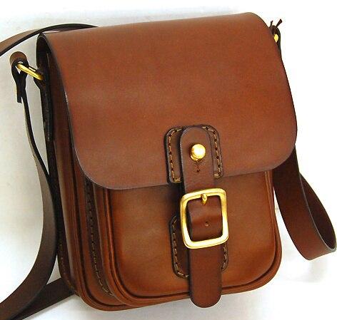 Man Handmade Leather Messenger Bag Goods Hand Made Diy Paper Lattice Pattern Drawings