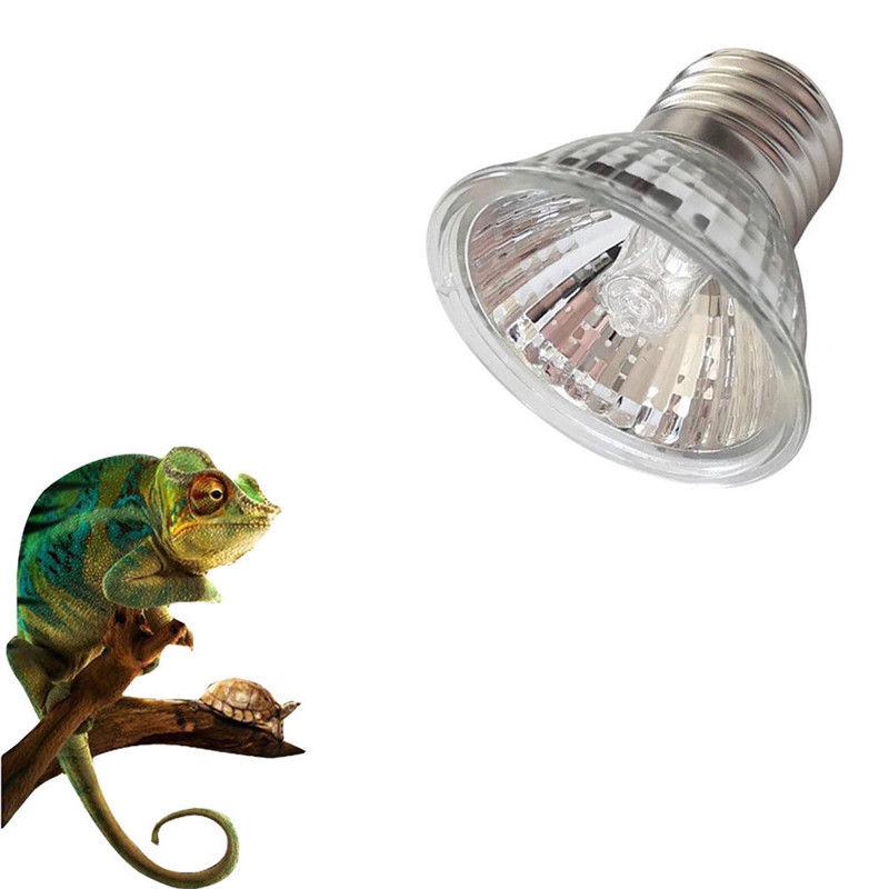 25/50/75W UVA+UVB 3.0 Reptile Lamp Bulb Turtle Basking UV Light Bulbs Heating Lamp Amphibians Lizards Temperature Controller