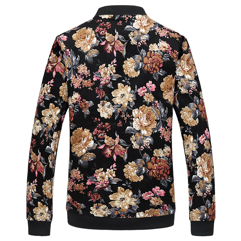 Floral jacket men Spring New cotton 2019 Male Flower Jacket Fashion Men Print Coat Plus Size Jacket in Jackets from Men 39 s Clothing